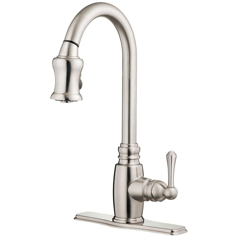 Danze Opulence Single-Handle Pull-Down Sprayer Kitchen Faucet in Stainless Steel