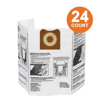 High-Efficiency Size A Dust Bags for 12 gal. to 16 gal. RIDGID Wet/Dry Vacs (24-Pack)