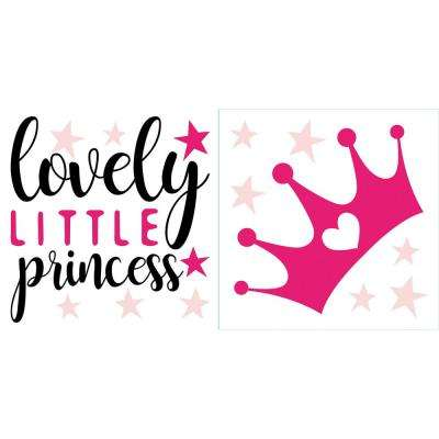 Pink Lovely Princess Wall Quote Decal