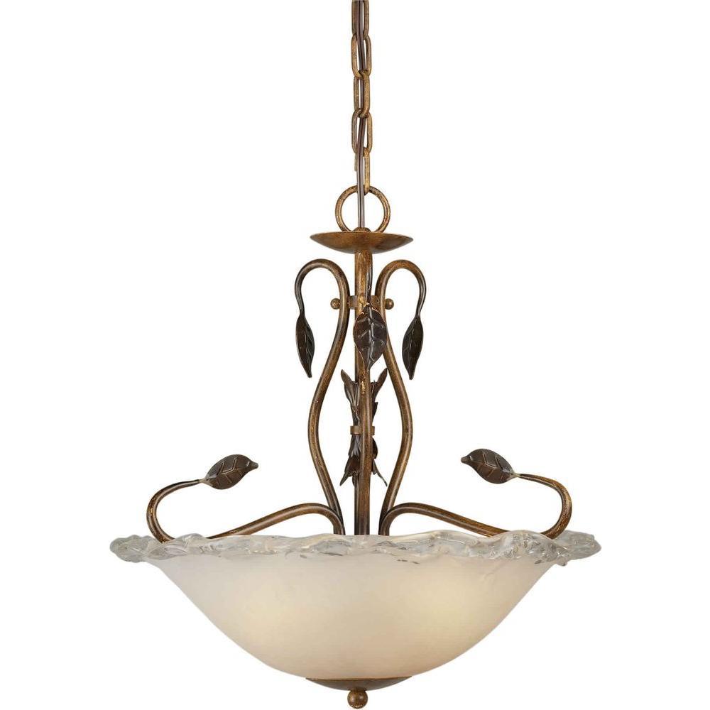 Talista Burton 3-Light Rustic Sienna Incandescent Ceiling Pendant