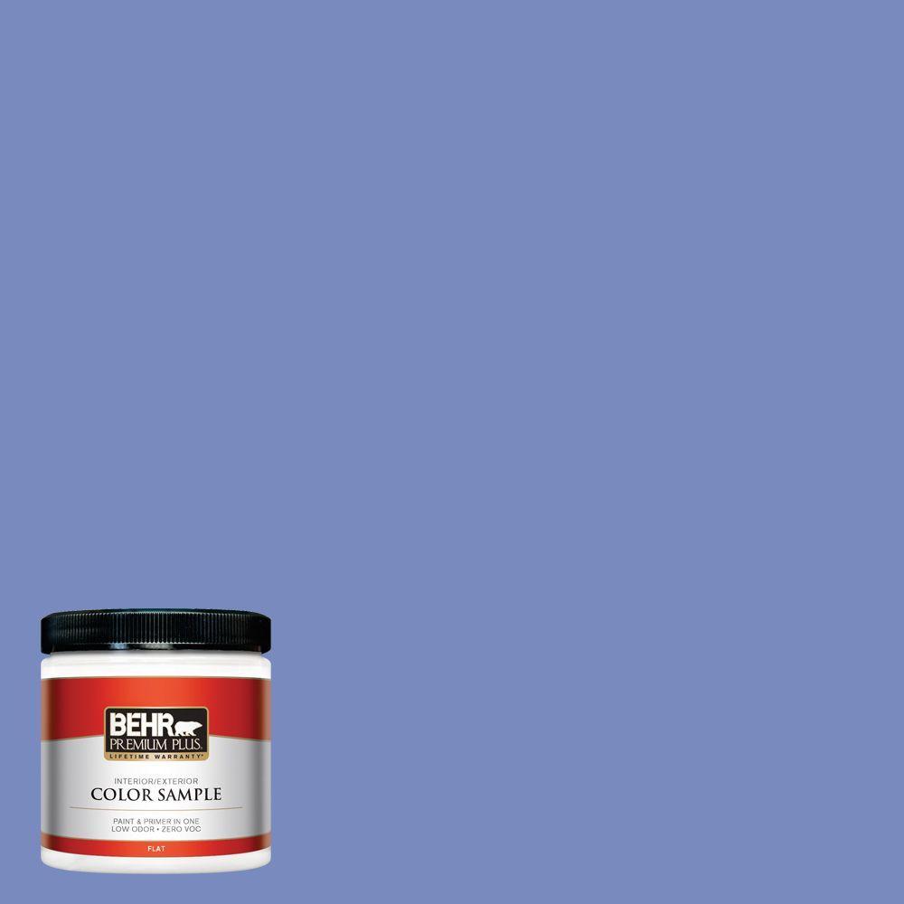 BEHR Premium Plus 8 oz. #600B-5 Larkspur Bouquet Interior/Exterior Paint Sample