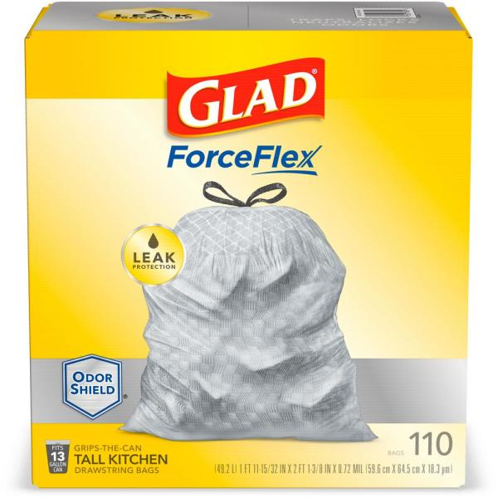 13 Gal. ForceFlex Tall Kitchen Drawstring Trash Bags (110-Count)