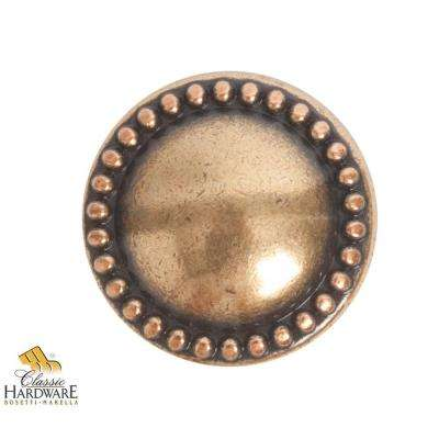 Louis XVI 0.98 in. Diameter Antique Brass Light Round Knob