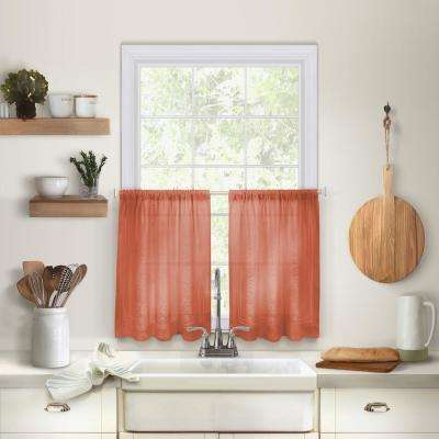 Cameron 30 in. W x 36 in. L Linen Kitchen Tiers in Spice (Set of 2)