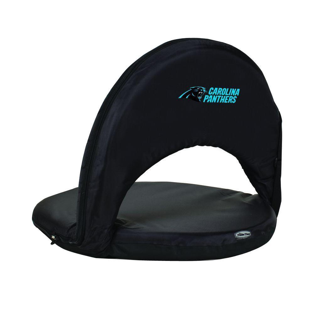 Oniva Carolina Panthers Black Patio Sports Chair with Digital Logo