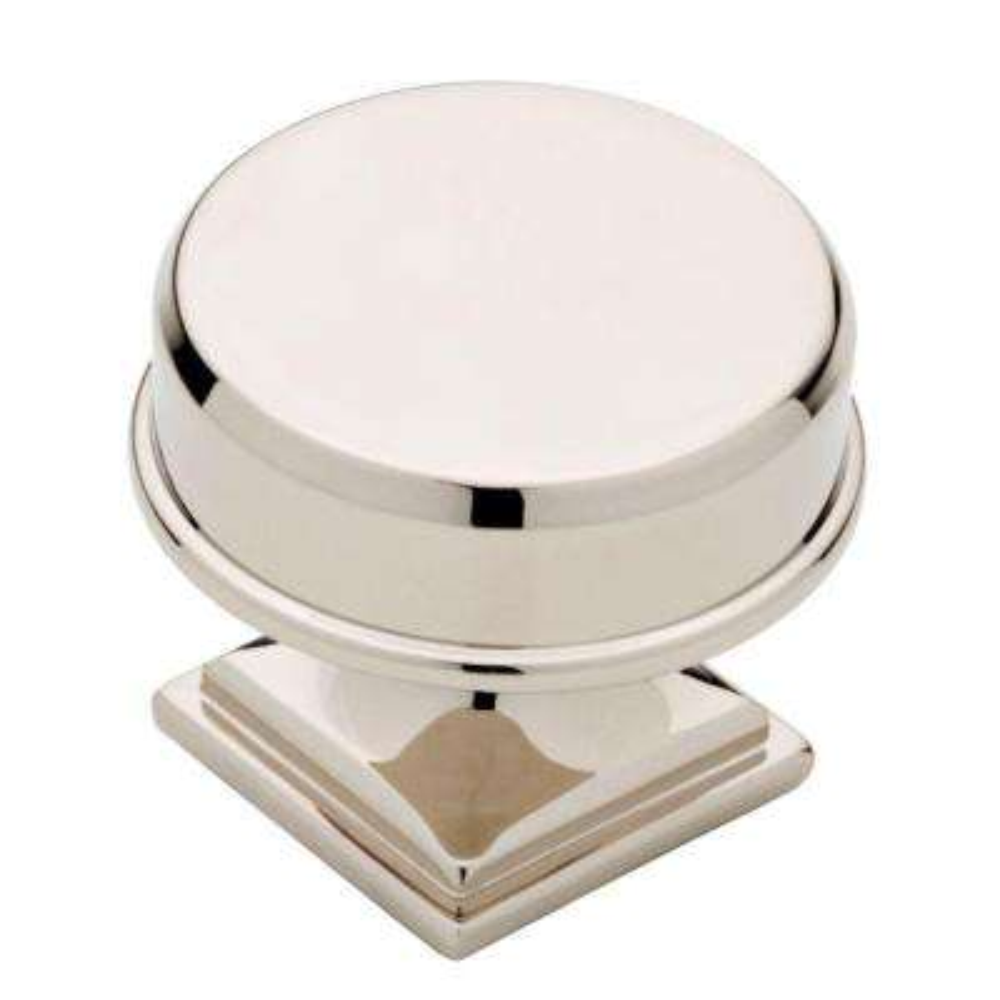 Elegant 1-3/16 in. (30mm) Polished Nickel Round Cabinet Knob