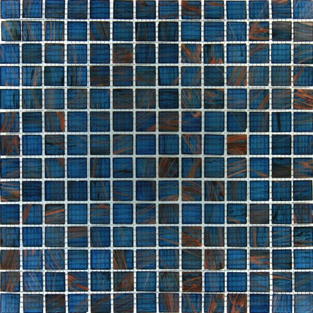 ms blue iridescent glass 12 in x 12 in x 4 mm glass meshmounted mosaic the home depot