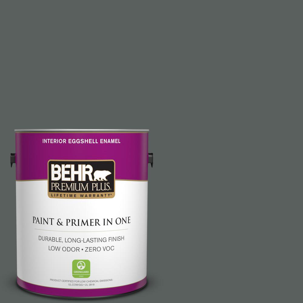 1-gal. #N460-6 Hematite Eggshell Enamel Interior Paint