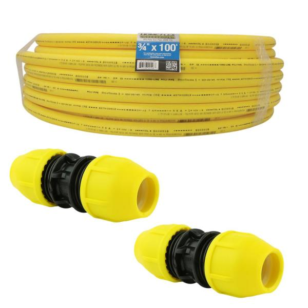 Underground 3/4 in. IPS Extension Kit (1) Roll of 3/4 in. x 100 ft. Pipe, (2) 3/4 in. Couplers
