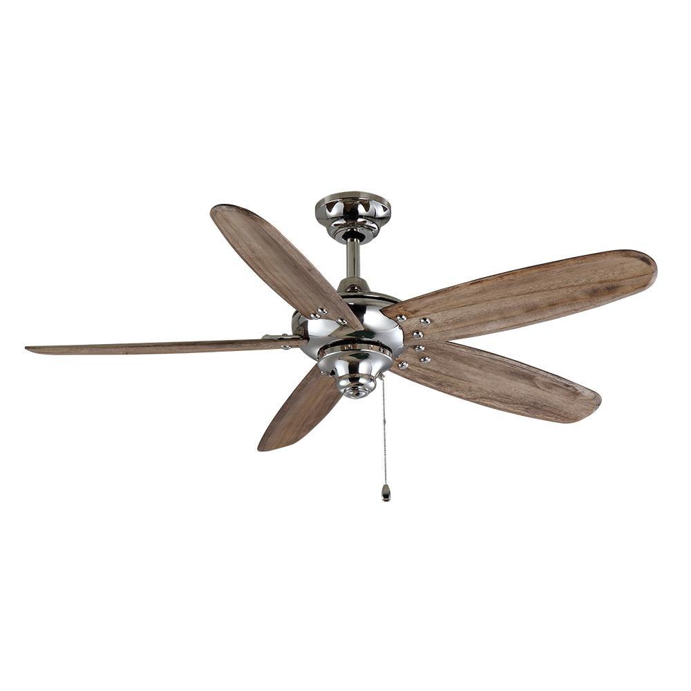 Altura 48 in. Indoor/Outdoor Polished Nickel Ceiling Fan