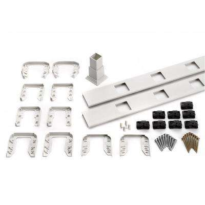 Transcend 91.5 in. Composite White Square Baluster Stair Accessory Kit