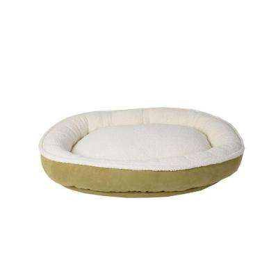 Cloud Sherpa & Faux Suede Comfy Cup Small Willow Bed