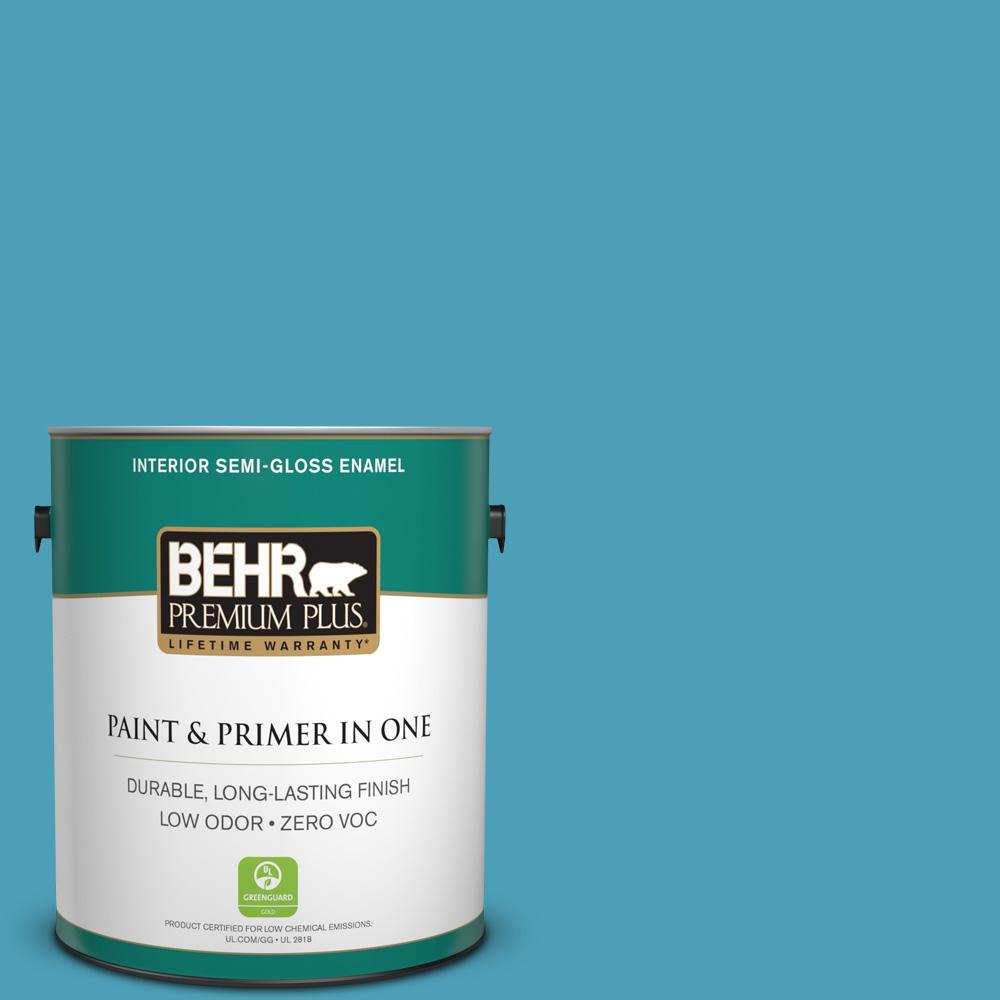 BEHR Premium Plus 1-gal. #M480-5 Eskimo Semi-Gloss Enamel Interior Paint