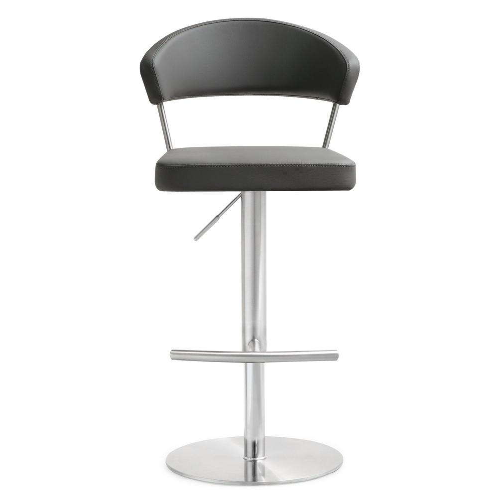 Cosmo 32 in. Grey Steel Barstool, Grey/Silver