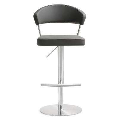 Cosmo 32 in. Grey Steel Barstool