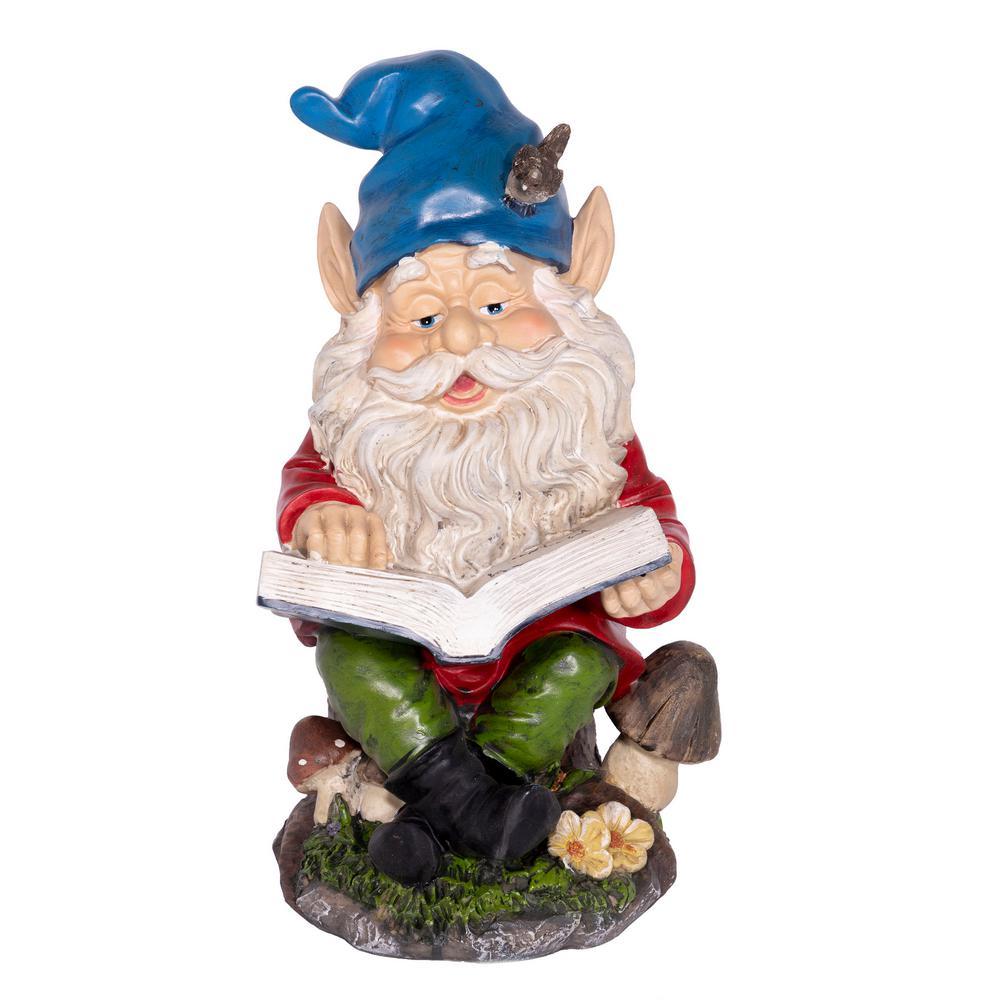 Gnome Reading a Book Statuary