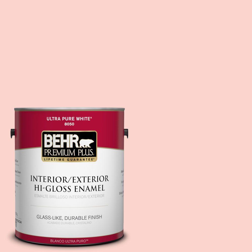 BEHR Premium Plus 1-gal. #180A-2 Romantic Morn Hi-Gloss Enamel Interior/Exterior Paint
