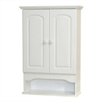 Hartford 20.8 in. W x 30.5 in. H x 7.13 in. D Bathroom Storage Wall Cabinet in White