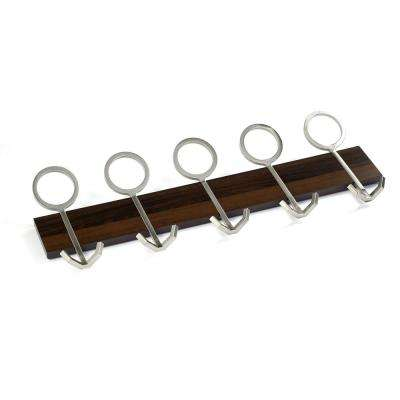 36 in. (914 mm) Mocha Contemporary Hook Rack