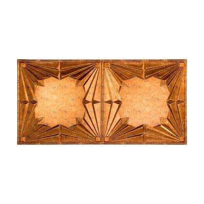 Art Deco - 2 ft. x 4 ft. Glue-up Ceiling Tile in Muted Gold