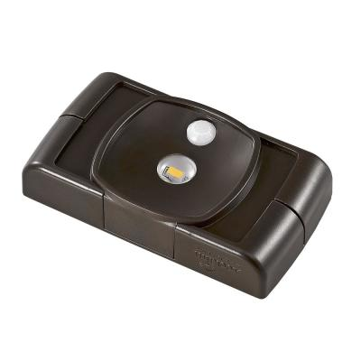 Battery Operated LED Bronze Compact Thin Profile Spotlight