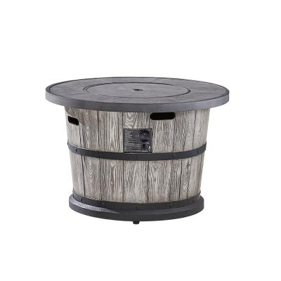 Bromo 36 in. x 24 in. Round MGO Liquid Propane Fire Table in Distressed Gray