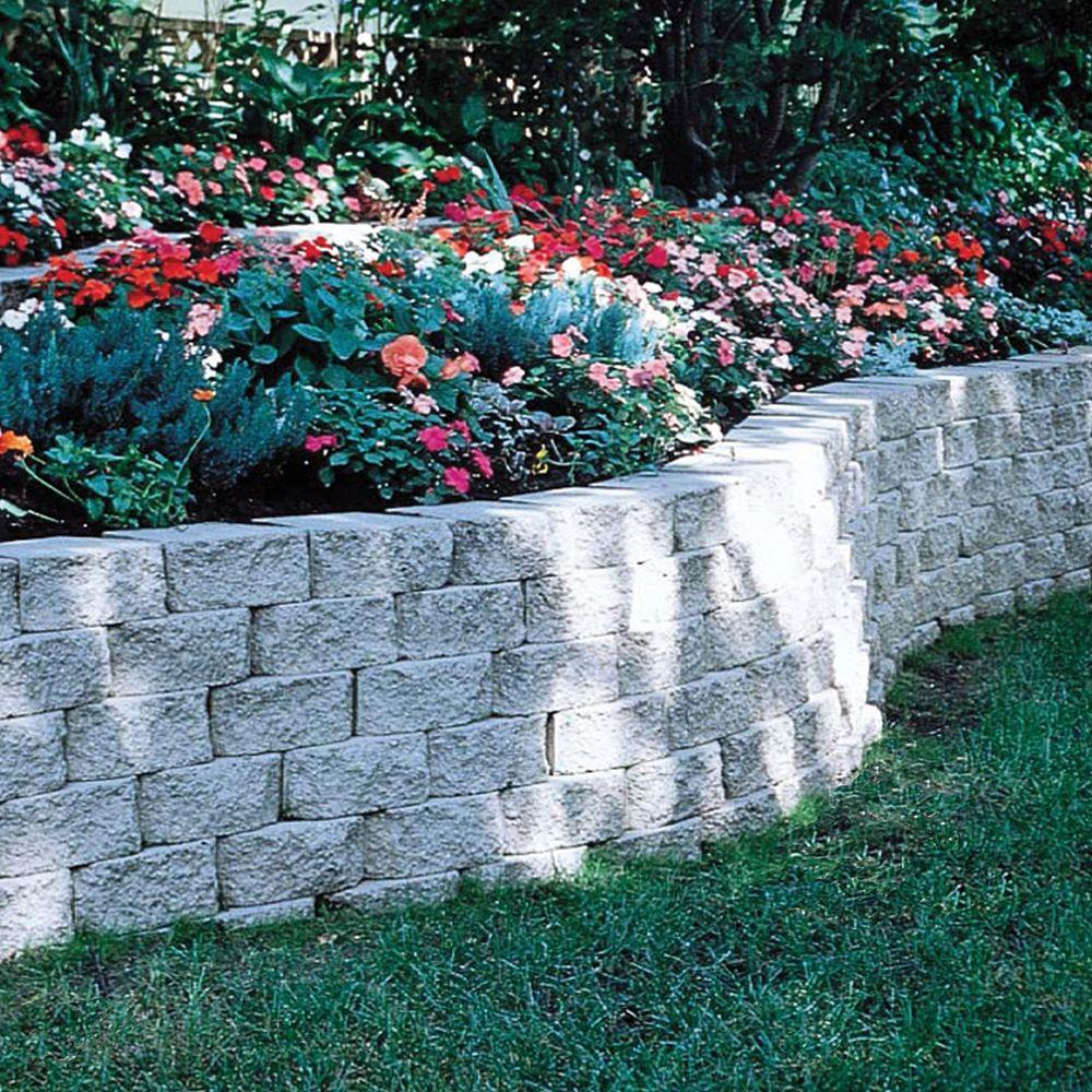 Pavestone 4 in  x 11 75 in  x 6 75 in  Pewter Concrete Retaining Wall Block  (144 Pcs  / 46 5 Face ft  / Pallet)