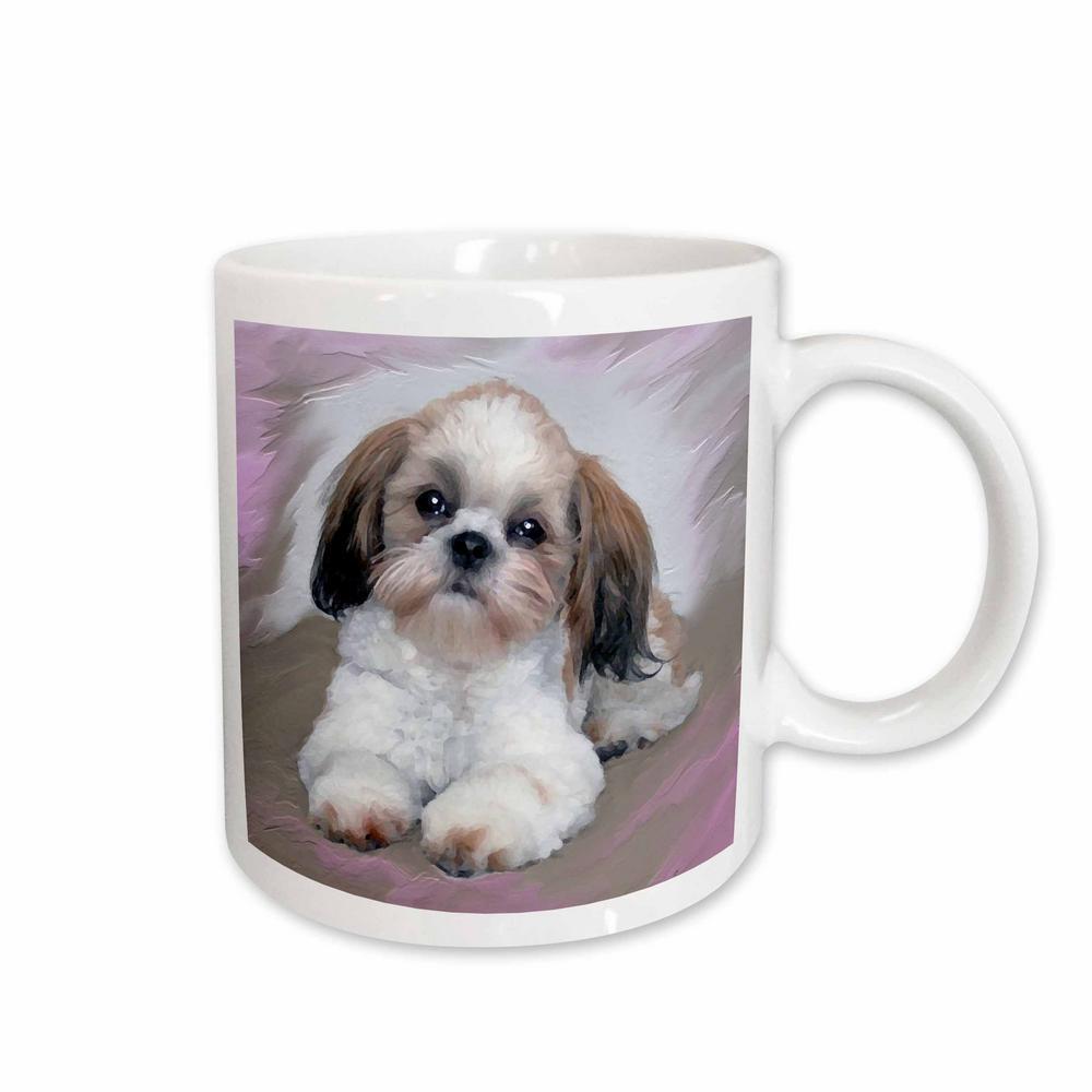3drose Dogs 11 Oz White Ceramic Shih Tzu Puppy Mug Mug48071 The