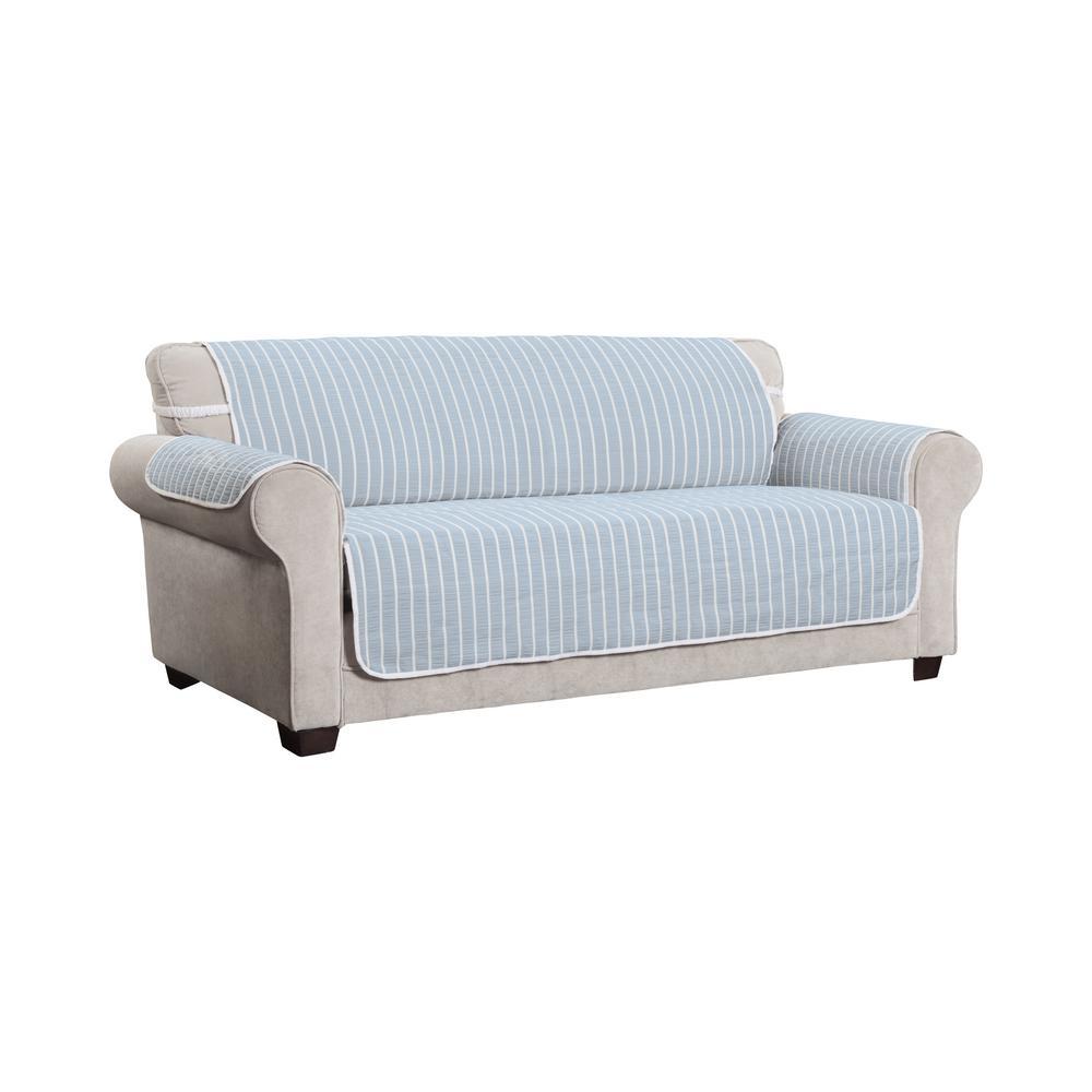 Harper Striped XL Sofa Furniture Cover Slipcover