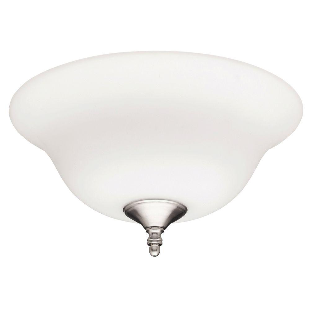 Hunter 12 in brushed nickel ceiling fan bowl light 28592 the home brushed nickel ceiling fan bowl light aloadofball Choice Image