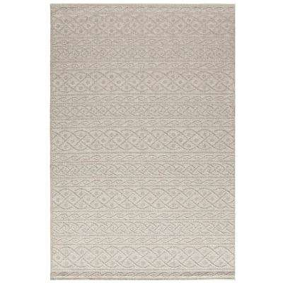 Fordon Light Beige/Light Grey 8 ft. x 11 ft. Rectangle Indoor/Outdoor Area Rug