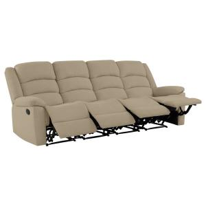 ProLounger 4-Seat Wall Hugger Recliner Sofa in Barley Tan ...
