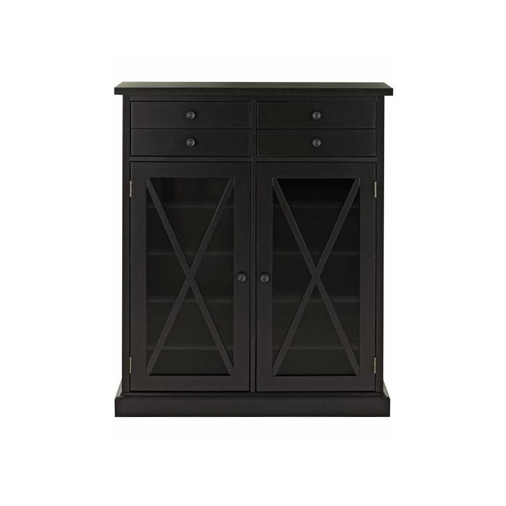 Home Decorators Collection Hampton Black Storage Cabinet 9249800200 The Home Depot