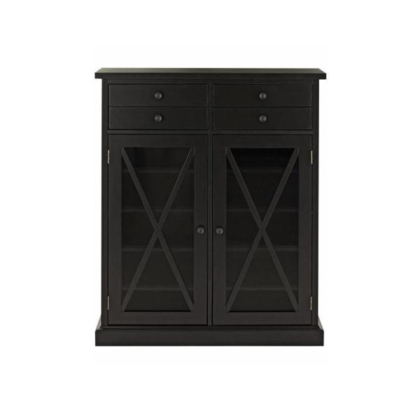 Hampton Black Storage Cabinet