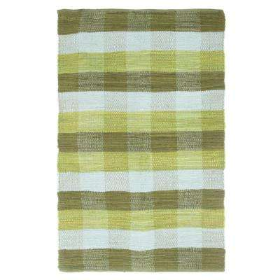 Chindi Plaid Moss 2 ft. 3 in. x 3 ft. 9 in. Area Rug