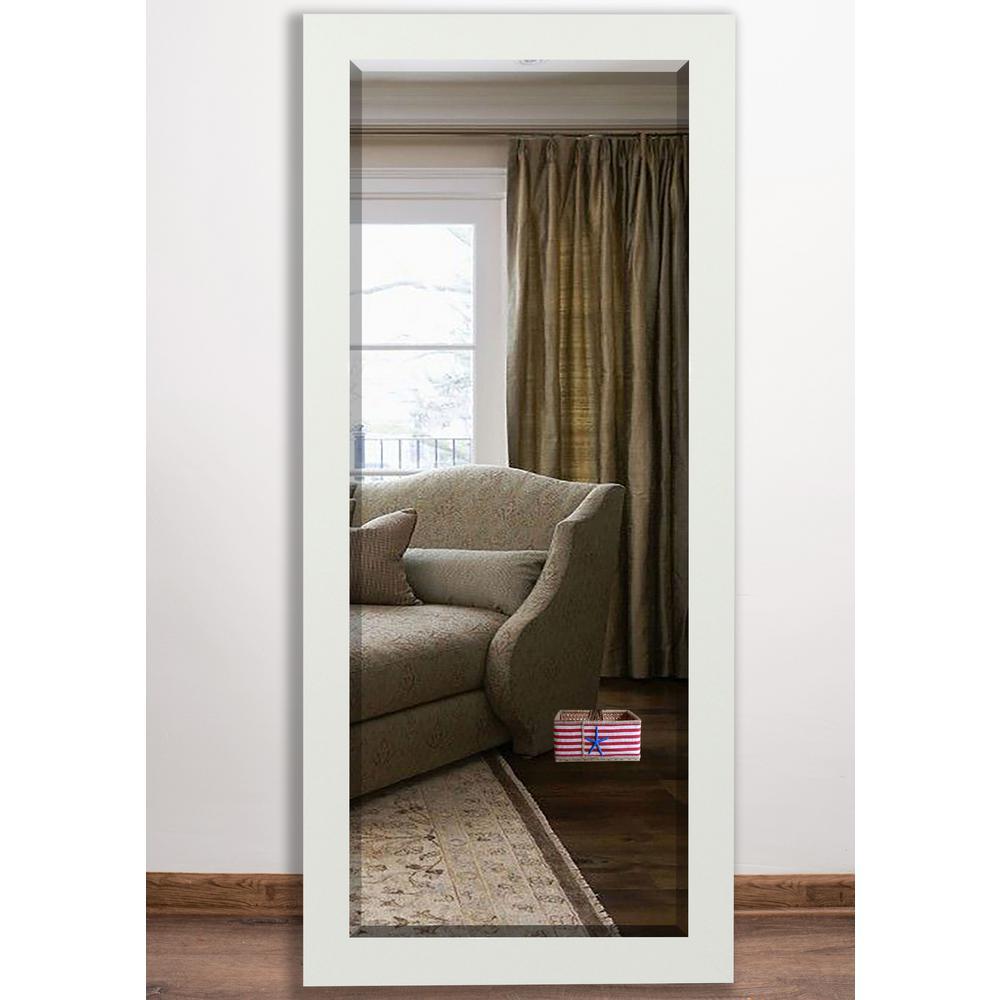 32 in. x 65.5 in. Delta White Beveled Full Body Mirror