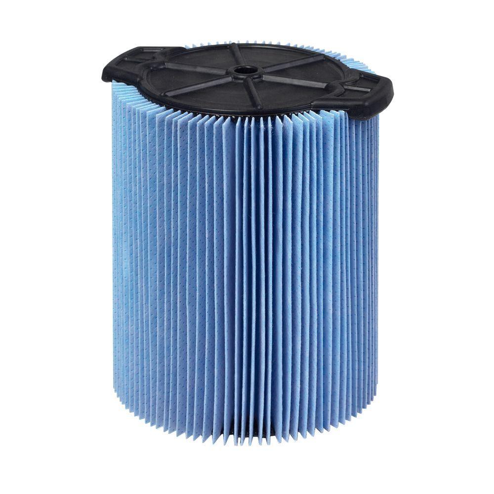 RIDGID 3-Layer Fine Dust Pleated Paper Filter for 5.0+ gal. RIDGID Wet Dry Vacs