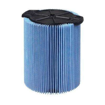 3-Layer Fine Dust Pleated Paper Filter for 5.0+ gal. RIDGID Wet Dry Vacs