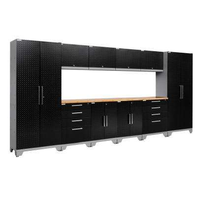 Performance Diamond Plate 2.0 72 in. H x 156 in. W x 18 in. D Garage Cabinet Set in Black (12-Piece)