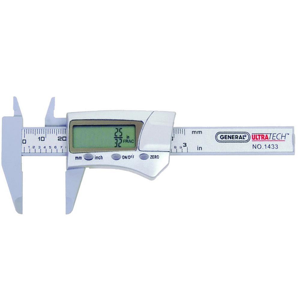 General Tools 3 inch Carbon Fiber Digital Caliper by General Tools