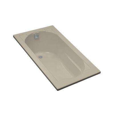 Devonshire 5 ft. Right-Hand Drain Drop-In Acrylic Soaking Tub in Sandbar