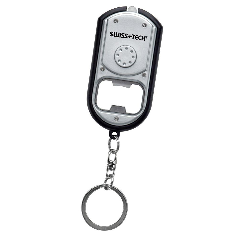 Swiss+Tech Key Chain LED Flashlight Bottle Opener