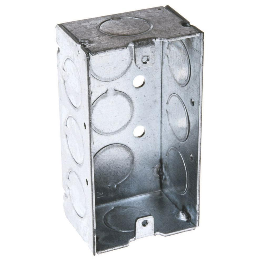 2-1/8 in. Deep Single Gang Welded Handy Box with 1/2 in.