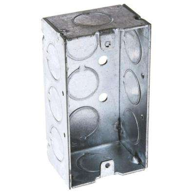 2-1/8 in. Deep Single Gang Welded Handy Box with 1/2 in. KO's (25-Pack)