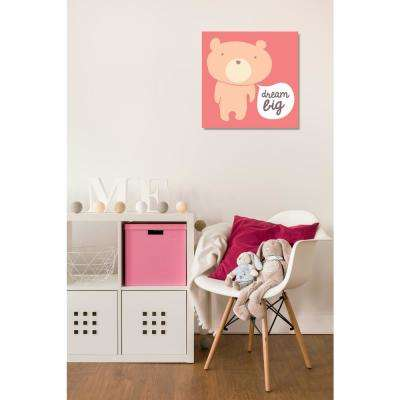 30 in. x 30 in. 'Dream Big Teddy Berry' by Oliver Gal Printed Framed Canvas Wall Art
