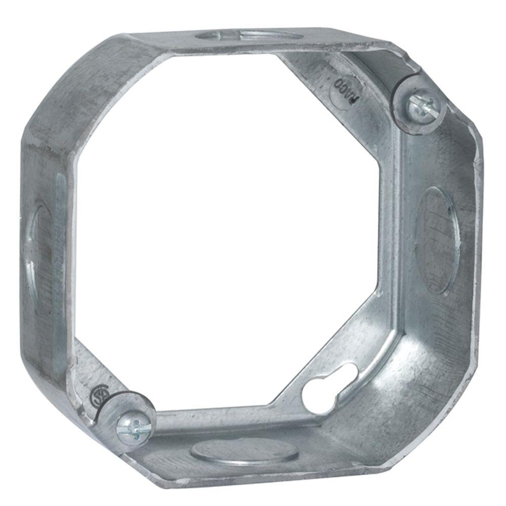 4 in. Octagon Extension Ring, 1-1/2 Deep with 1/2 KO's (25-Pack)