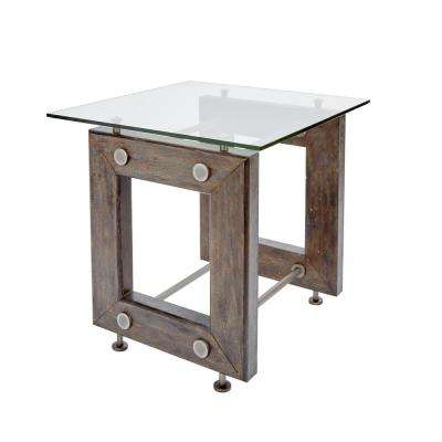 Knox Industrial Brown End Table