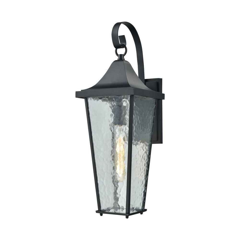 Titan Lighting Vinton 1-Light Matte Black Outdoor Wall Sconce