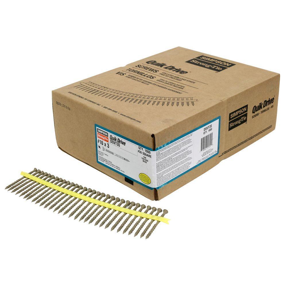 Quik Drive #10 3 in. Quik Guard Tan DSV Collated Decking Screw (1,000 per Box)