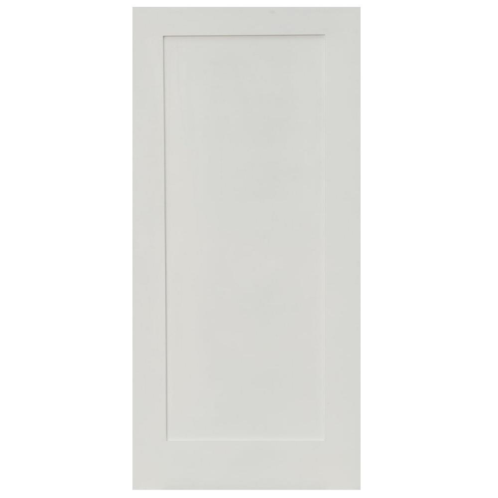30 in. x 80 in. Shaker Primed 1-Panel Solid Core MDF